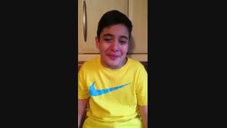 واکنش احساسی پسربچه انگلیسی به مردود اعلام شدن گل ایران مقابل اسپانیا