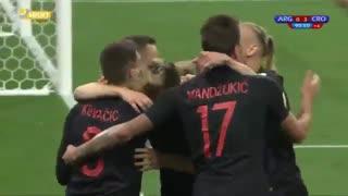 سلاخی مسی و یاران ؛ گل سوم کرواسی به آرژانتین