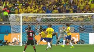 گل توماس مولر به برزیل در جام جهانی 2014