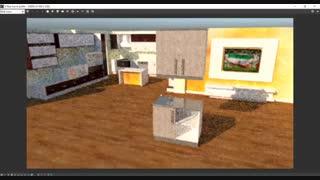 آموزش طراحی کابینت آشپزخانه با اسکچ آپ 2018- قسمت 10