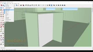 آموزش طراحی کابینت آشپزخانه با اسکچاپ 2018- قسمت 16