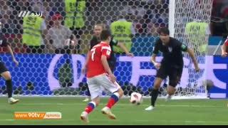 خلاصه جام جهانی: روسیه (۳) ۲-۲ (۴) کرواسی