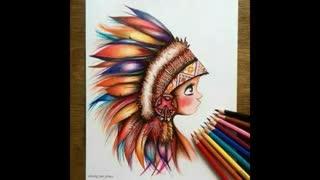 چند تا طرح خوشگل برای نقاشی با مداد رنگی