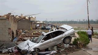 خسارات باورنکردنی طوفان شدید چین