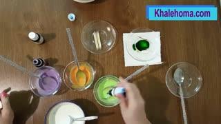 آموزش ساخت رنگ جدید از سه رنگ اصلی  برای تزئین دسر
