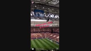 **آهنگ **Fake love  **در فینال جام جهانی همین الان پخش شد!!**