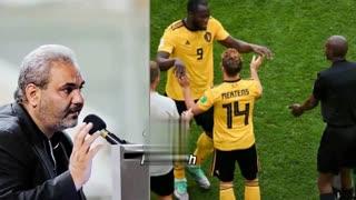 جواد خیابانی سوتی آفرین شد! سوتی عجیب و غریب جام 2018