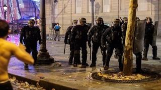 خشونت در جشن قهرمانی فرانسه