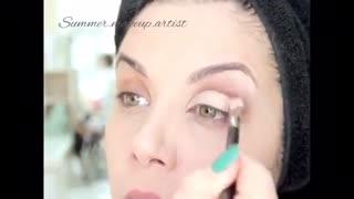 چگونه بزرگتر کردن چشمها. how to make your eyes look bigger with makeup