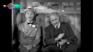 فیلم موسیو وردو سکانس رویارویی موسیو وردو با کاراگاه خصوصی و قتل او در قطار