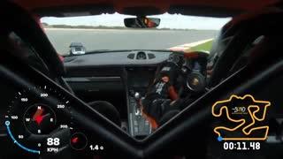 پورشه 911 GT2 RS  در پیست سرعت