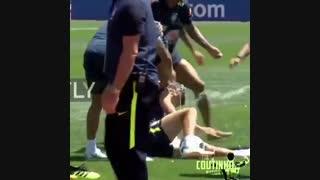 لحظات فان و خنده دار فیلیپه کوتینیو بازیکن برزیلی بارسلونا