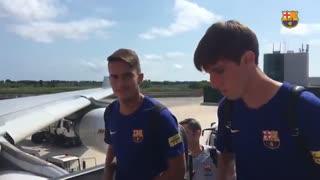 از نزدیک , سفر بازیکنان بارسلونا به آمریکا