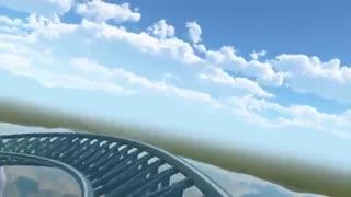 ترن هوایی فوق العاده وحشتناک از دید سرنشین