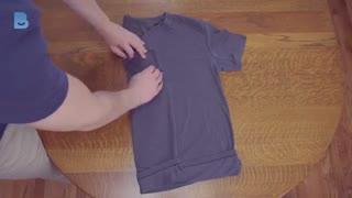 4 روش برای تا کردن تیشرت