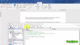 ماکرنویسی در محیط نرم افزار Word2016 (قسمت چهارم)