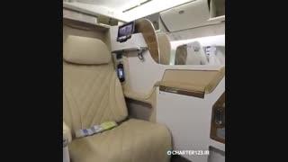 دیزاین و طراحی داخلی یکی از هواپیماهای هواپیمایی امارات | Charter123