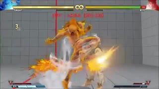 STREET FIGHTER V AE SAGAT BASIC COMBOS