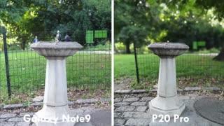 ویدیو مقایسه دوربین گوشی سامسونگ  گلکسی نوت 9 و هواوی پی 20  (Samsung Galaxy Note 9 Vs Huawei p20)