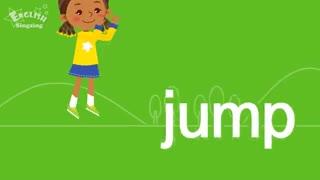 آموزش زبان برای کودکان به روش singsing : آموزش اسم کلمه ها و جملات ساده درباره راه رفتن و دویدن به انگلیسی برای کودکان