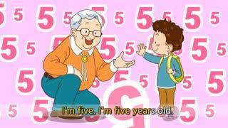 آموزش زبان انگلیسی برای کودکان به روش singsing : آموزش با شعر How old is he? (Age song)