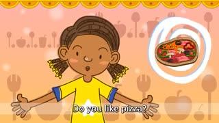 آموزش زبان انگلیسی برای کودکان به روش singsing : آموزش با شعر Do you like pizza? I like pizza. (Liking)