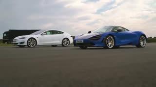 مسابقه تسلا و مک لارن - درگ