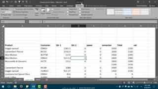 آموزش ساخت و تنظیمات Table در اکسل - قسمت اول