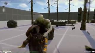 نمونه اولیه مبارزه Baldur در بازی God of War