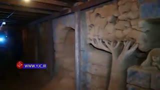 تبدیل تونل احداث شده توسط تروریستها به موزه هنری