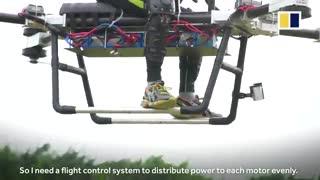 موتور سیکلت پرنده - ساخت مخترع چینی