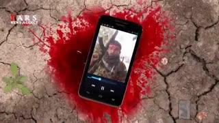 شهید مدافع حرم؛ یک لحظه قبل از شهادت