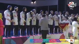 مراسم اهدای مدال طلای کبدی بانوان