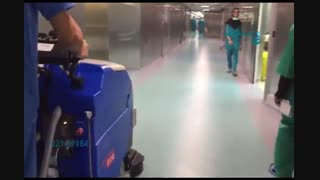 اسکرابر - کفشوی بهداشتی بیمارستان