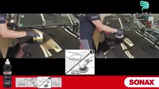 آموزش روش صحیح استفاده از واکس حرفه ای بدنه خودرو سوناکس مدل HW 02-04-گنجی پخش