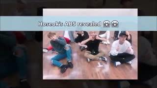 دلیل این که ABS Hoseok را نمی توان ساخت - سیکس پک جیهوپ یا بقیه اعضا ؟! :)) بی تی اس - BTS