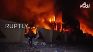 آتش زدن ساختمانهای دولتی در بصره توسط معترضان