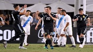 خلاصه بازی دوستانه: گواتمالا ۰-۳ آرژانتین