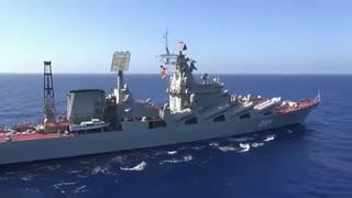 رزمایش دریای روسیه در دریای مدیترانه