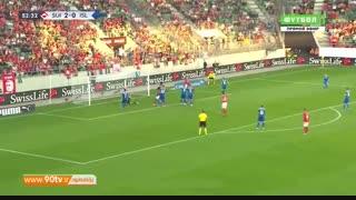 خلاصه لیگ ملتهای اروپا: سوئیس ۶-۰ ایسلند