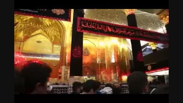 مداحی سیاه شد رنگ پرچم الا یا اهل عالم حاج محمود کریمی