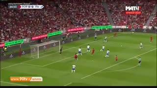 خلاصه لیگ ملتهای اروپا: پرتغال ۱-۰ ایتالیا