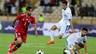 تک گل ایران در بازی با ازبکستان