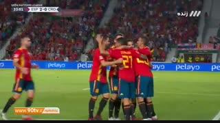 خلاصه لیگ ملتهای اروپا: اسپانیا ۶-۰ کرواسی