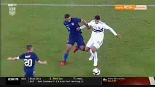 خلاصه بازی دوستانه: آمریکا ۱-۰ مکزیک