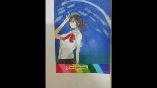 نقاشی جدیدم میتسوها انیمه اسم تو