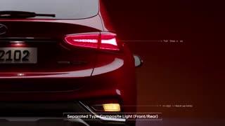 تیزر معرفی طراحی بدنه نسل جدید خودروی هیوندا سانتافه