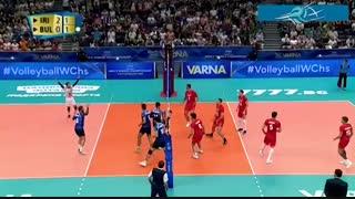 خلاصه بازی بلغارستان 1 - ایران 3 (قهرمانی جهان 2018)