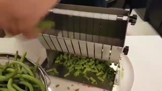 لوبیا سبز خرد کن دستی
