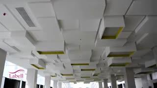 اجرای سقف لابل در مجتمع تجاری تفریحی #اکومال کرج